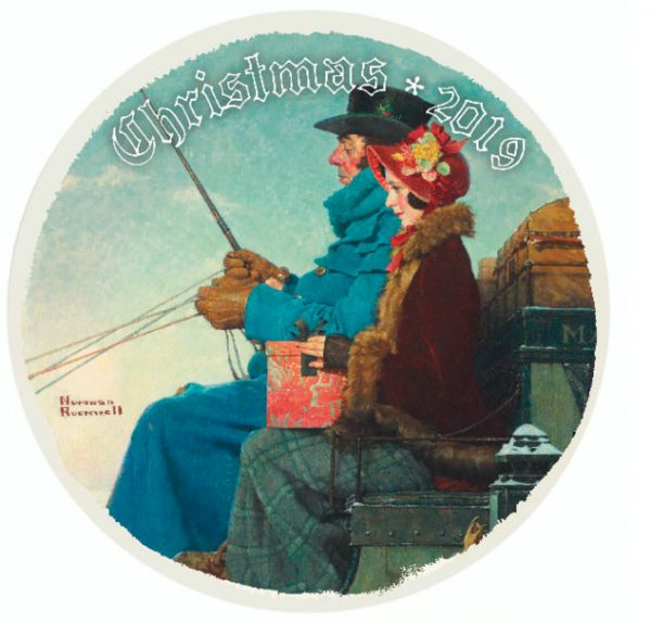 Norman Rockwell 2019 Christmas Plate