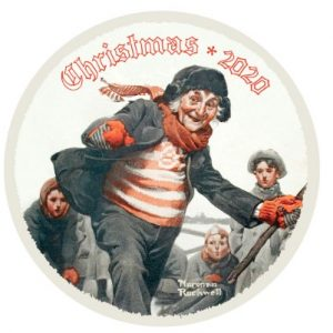 Norman Rockwell 2020 Christmas Plate