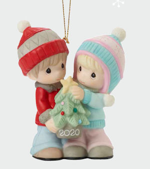 Precious Moments First Christmas Couple 2020 Ornament