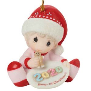 Babys First Christmas Ornament Girl