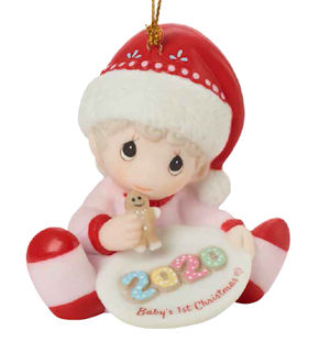 Babys First Christmas Ornament Girl