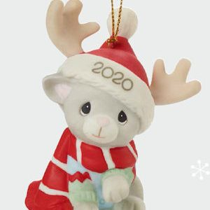 Precious Moments 2020 Cat Christmas Ornament
