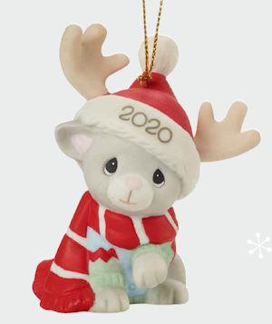Precious Moments 2020 Cat Christmas Ornament