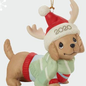 Precious Moments 2020 Dated Dog Christmas Ornament