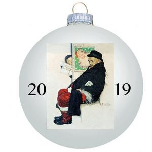 Norman Rockwell 2019 Christmas Ornament - Ball