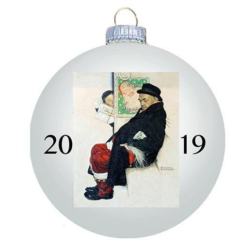 Norman Rockwell 2019 Christmas Ornament - Ball