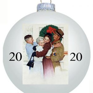 Norman Rockwell 2020 Christmas Ball Ornament