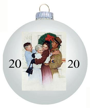 Norman Rockwell 2020 Christmas Ball Ornament