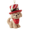 Precious Moments 2021 Dated Dog Christmas Ornament