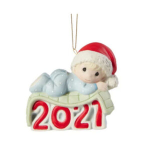 Precious Moments Babys 1st Christmas Boy 2021 Ornament