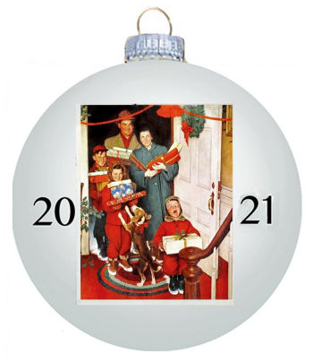 Norman Rockwell 2021 Christmas Ornament
